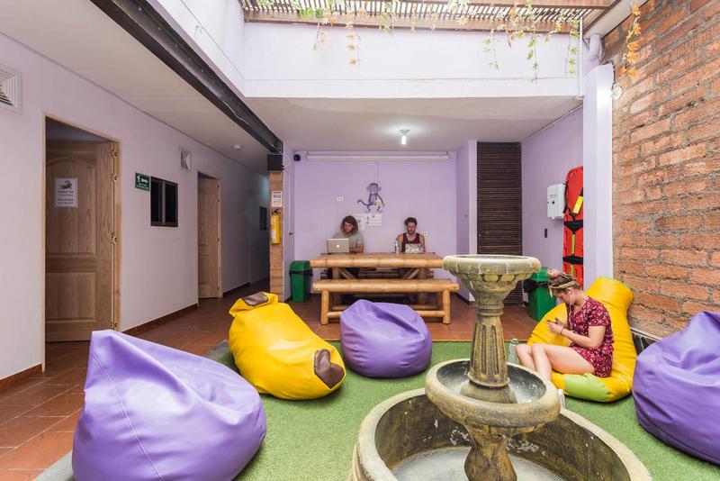 purple monkey hostel medellin